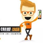 (100% working)Champ cash signup bonus 1$ (62 Rs)( Refer id 739222)
