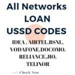 Talktime loan :All Operator Loan Ussd Codes Airtel,Idea,Bsnl,more