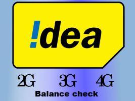 idea balance check