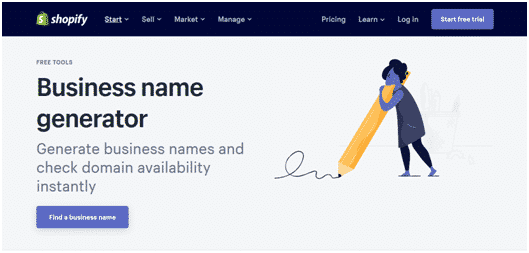 Shopify's names generator is fantastic.